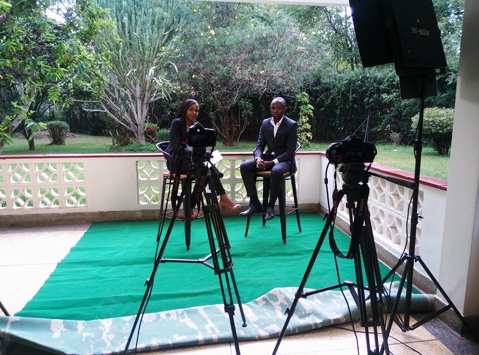 With Linda Kroeger, Cosmopolitan TV Kenya, Discussing Leadership & State of the Nation