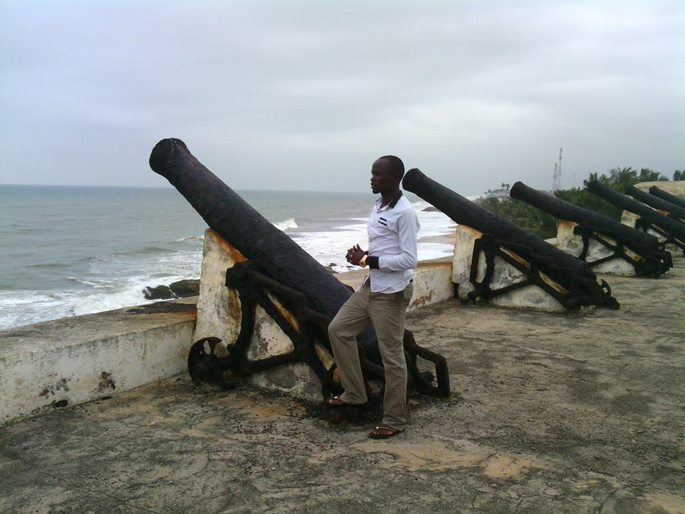 At the Cape Coast Castle, Ghana, to remind myself of the pain and suffering, Africans were subjected to during the Slavery Trade