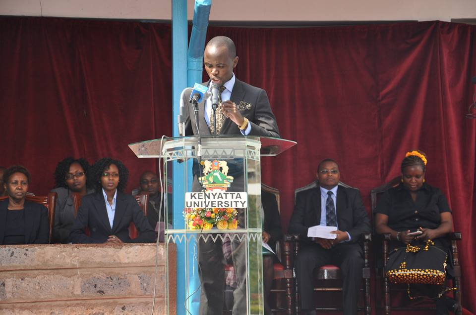 Addressing Participants of the All Kenya National Moot Court Competition at Kenyatta University, School of Law