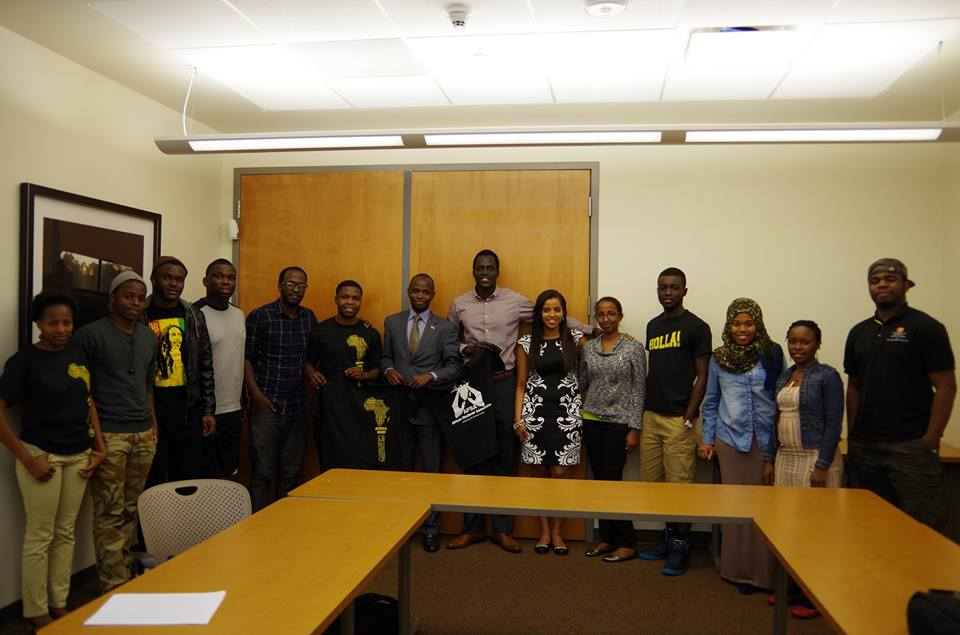 With Some Members of the African Students Association- Arizona State University, Phoenix, Arizona